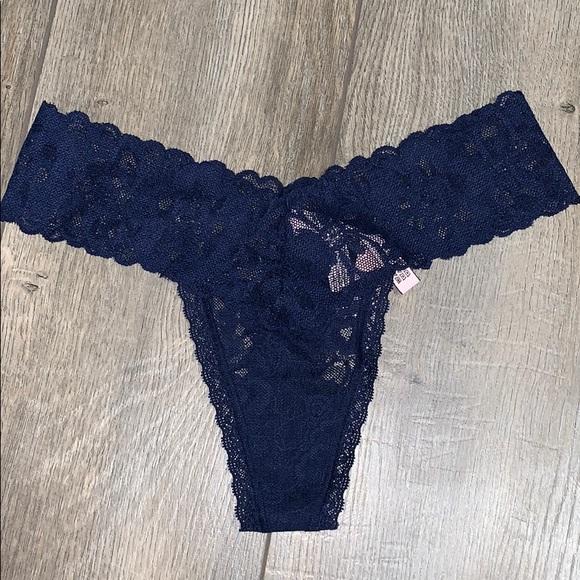 a211df8460026 🆕 Victoria's Secret Navy Lace Thong NWT